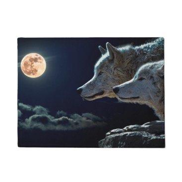 Halloween Themed Wolves Doormat
