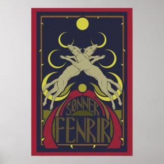 Wolves eating the moon (Sonner Fenrir) Poster