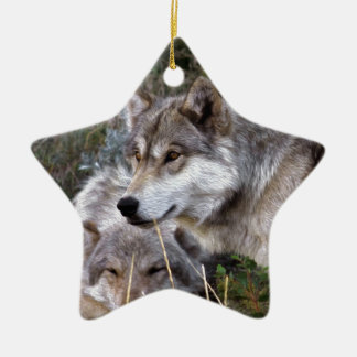 Wolves ~ Family Ties Ceramic Ornament