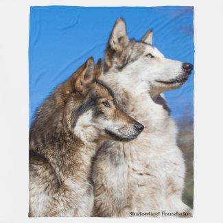 Wolves Fleece Blanket
