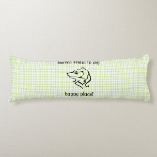 Wolves frolic in my happy place body pillow