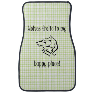 Wolves frolic in my happy place car mat