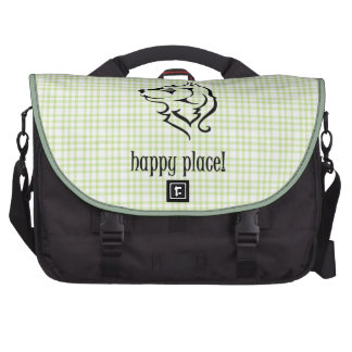 Wolves frolic in my happy place commuter bags