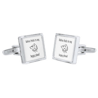 Wolves frolic in my happy place cuff links