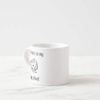 Wolves frolic in my happy place espresso cup