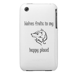 Wolves frolic in my happy place iPhone 3 cover