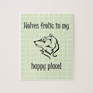 Wolves frolic in my happy place puzzle