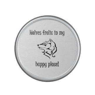 Wolves frolic in my happy place speaker