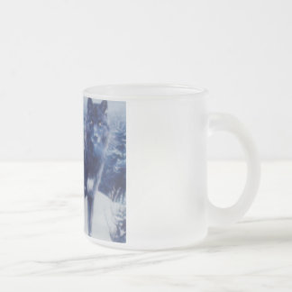 Wolves Frosted Glass Coffee Mug