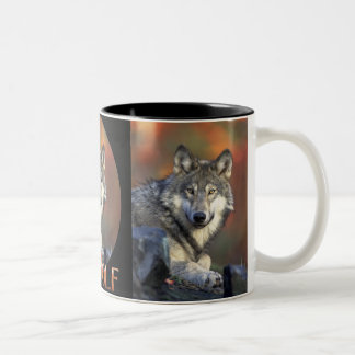Wolves Grey Wolf Canis Lupis Two-Tone Coffee Mug