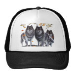 Wolves In Fall Mesh Hat