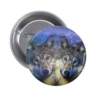 Wolves in the night buttons