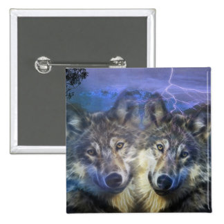 Wolves in the night pin