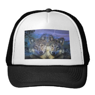 Wolves in the night trucker hat