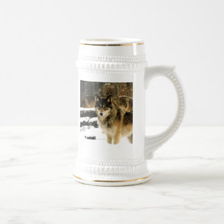 Wolves in The Snow Beer Stein