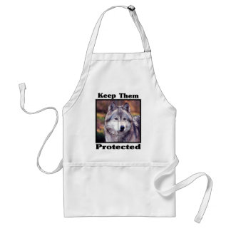 Wolves-Keep them Protected Adult Apron