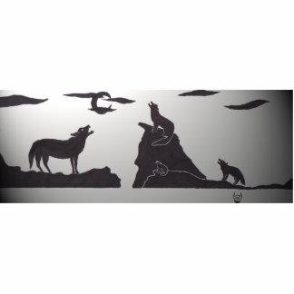 Wolves_light Standing Photo Sculpture