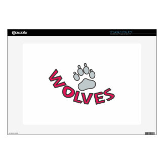 "Wolves Mascot 15"" Laptop Skins"