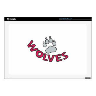 "Wolves Mascot 17"" Laptop Skin"