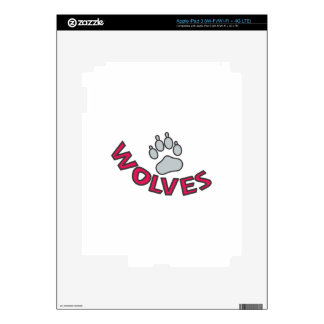 Wolves Mascot Skins For iPad 3