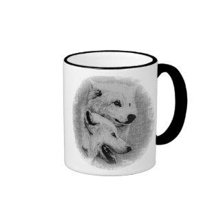 Wolves Ringer Coffee Mug