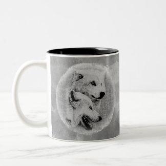 Wolves Two-Tone Coffee Mug
