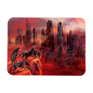 Wolves of Future Past Rectangular Photo Magnet