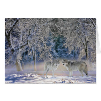 Wolves of Yellowstone Greeting Card