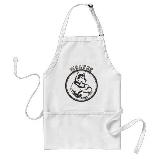 Wolves or Wolf Mascot Adult Apron