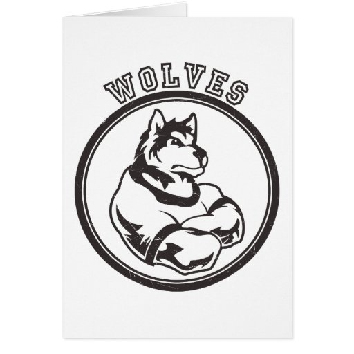 Wolves or Wolf Mascot Card
