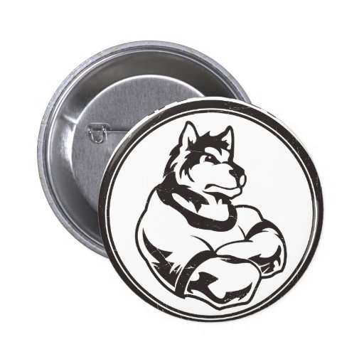 Wolves or Wolf Mascot Pinback Button