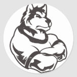 Wolves or Wolf Mascot Round Sticker