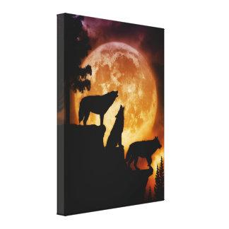 Wolves Peak Wrapped Canvas Canvas Print