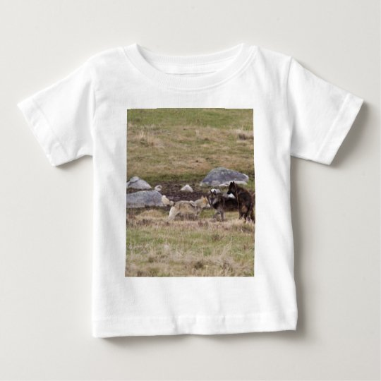 Wolves Playing Baby T-Shirt