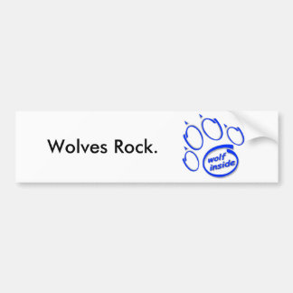 Wolves Rock. Car Bumper Sticker