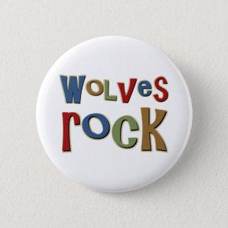 Wolves Rock Pinback Button