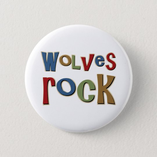 Wolves Rock Pinback Button