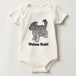 Wolves Rule! Baby Bodysuit