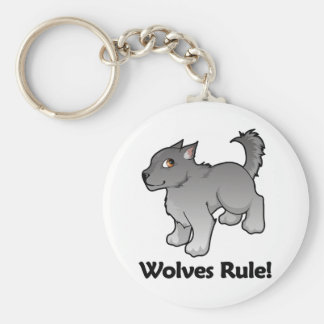 Wolves Rule! Keychain