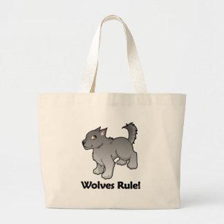 Wolves Rule! Large Tote Bag