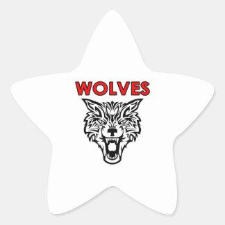 WOLVES STAR STICKER