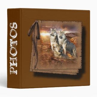 Wolves Trio 3 Ring Binder
