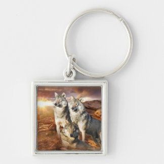 Wolves Trio Keychain