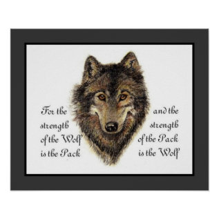 Wolves, Watercolor Wolf & Pack Quote, Nature Poster at Zazzle