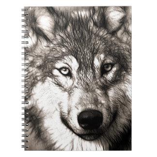 Wolves Wolf Animals Wild Nature Forest Spiral Note Books