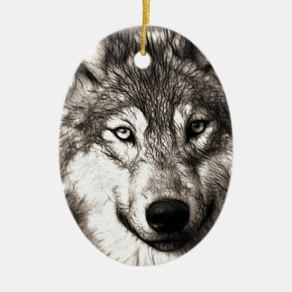 Wolves Wolf Animals Wild Nature Forest Christmas Tree Ornament
