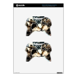 Wolves Wolf  Snow Winter Snow Couple Love Xbox 360 Controller Skin