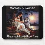 wolveswomenspirit tapete de ratón