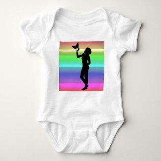 Woman2 NeonRainbow Baby Bodysuit