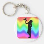 Woman2 RainbowMelt Llavero Personalizado